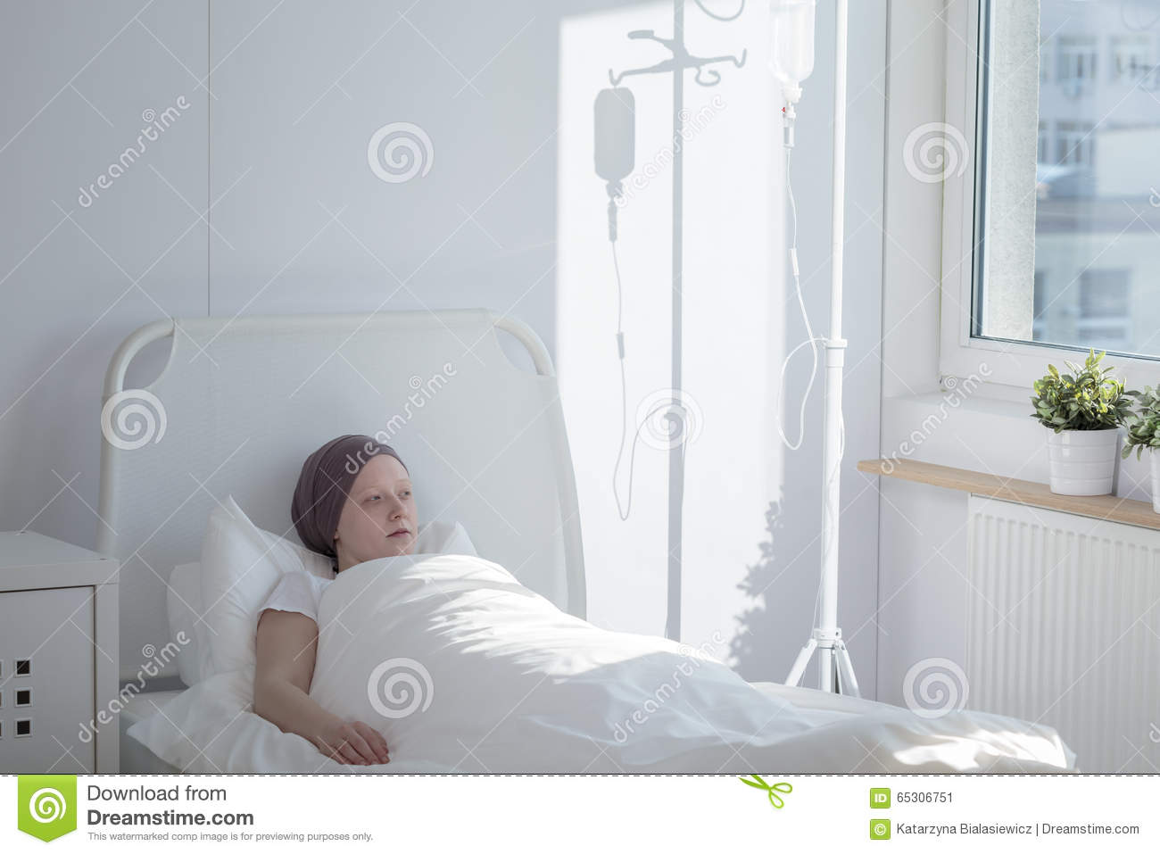 Woman In A Hospital Stock Image. Image Of Illness