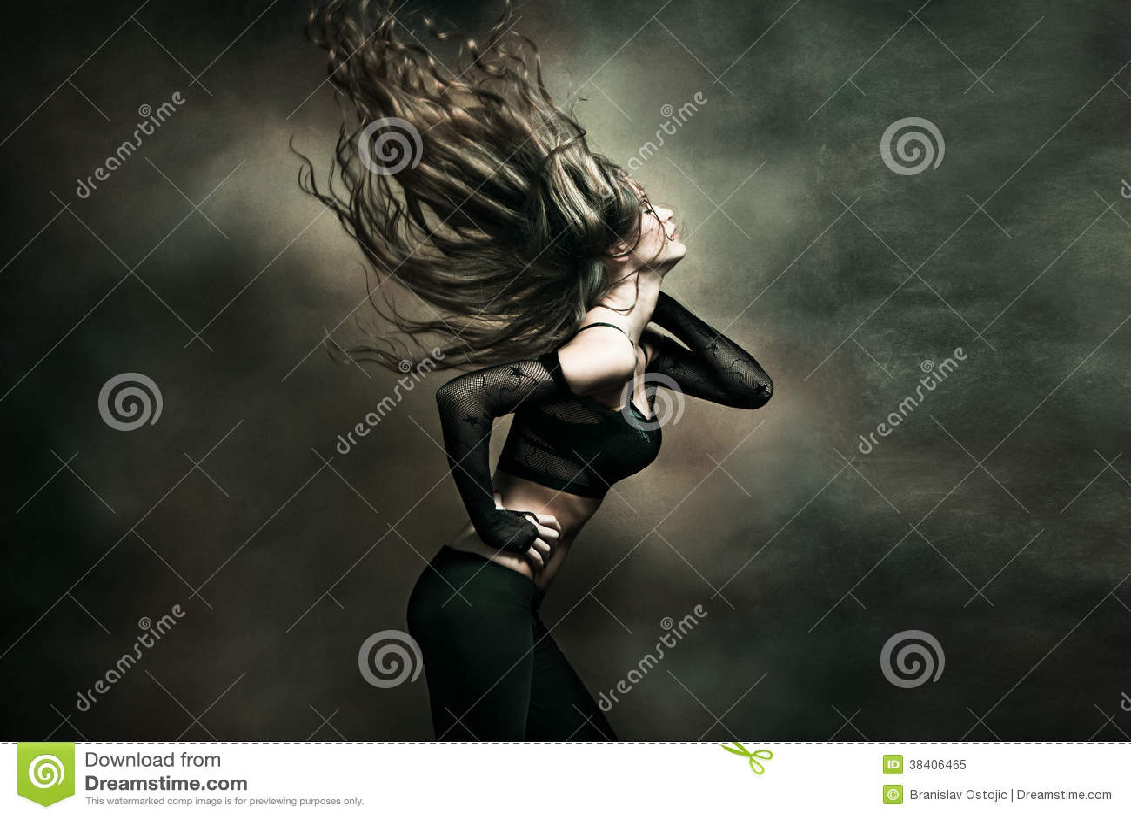Woman hot dance