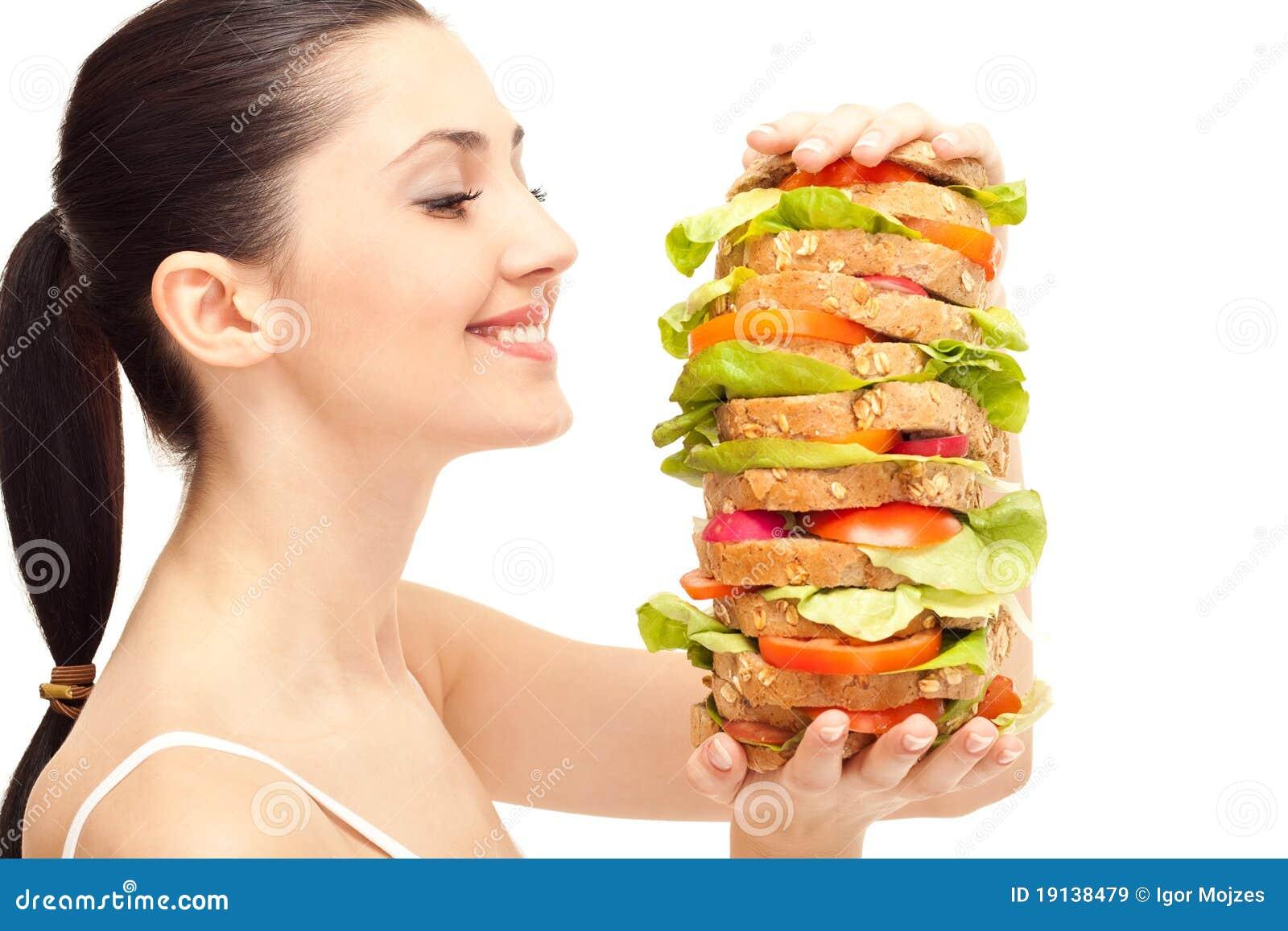 Sandwich Mit Fettem Girl