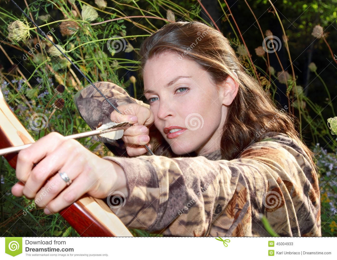 woman hunting stock image  image of beauty  woman  nature