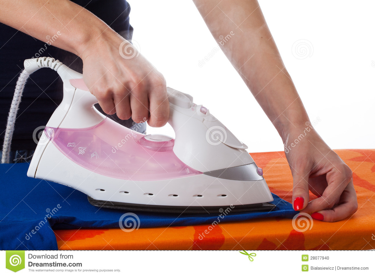 Woman Ironing Clothes Stock Photo - Image: 28077940