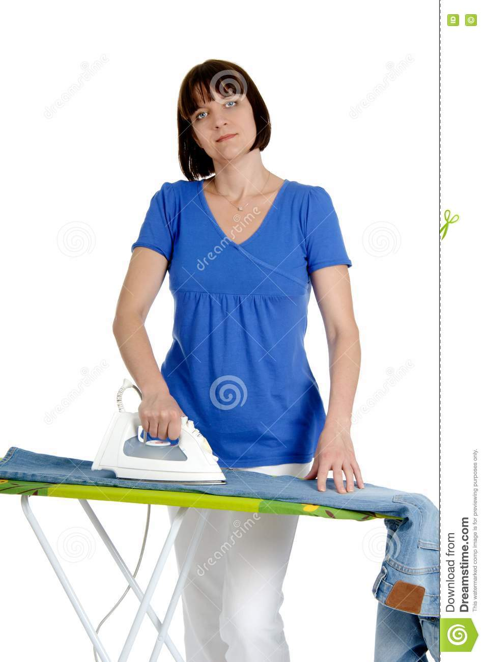 Woman Ironing Trousers Royalty Free Stock Photography ...