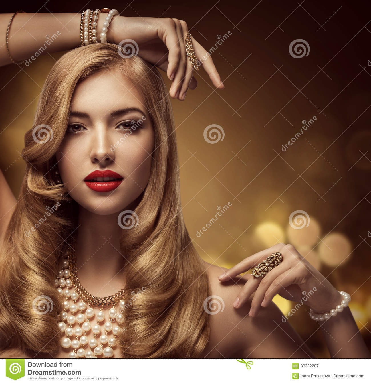 Woman Jewelry Beauty, Fashion Model Makeup, Young Girl