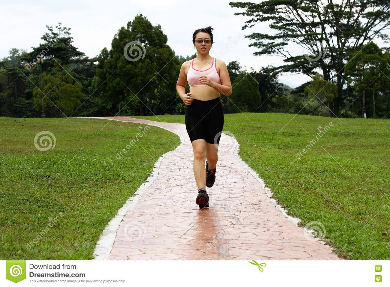 Woman Jogging Royalty Free Stock Photos - Image: 18488848
