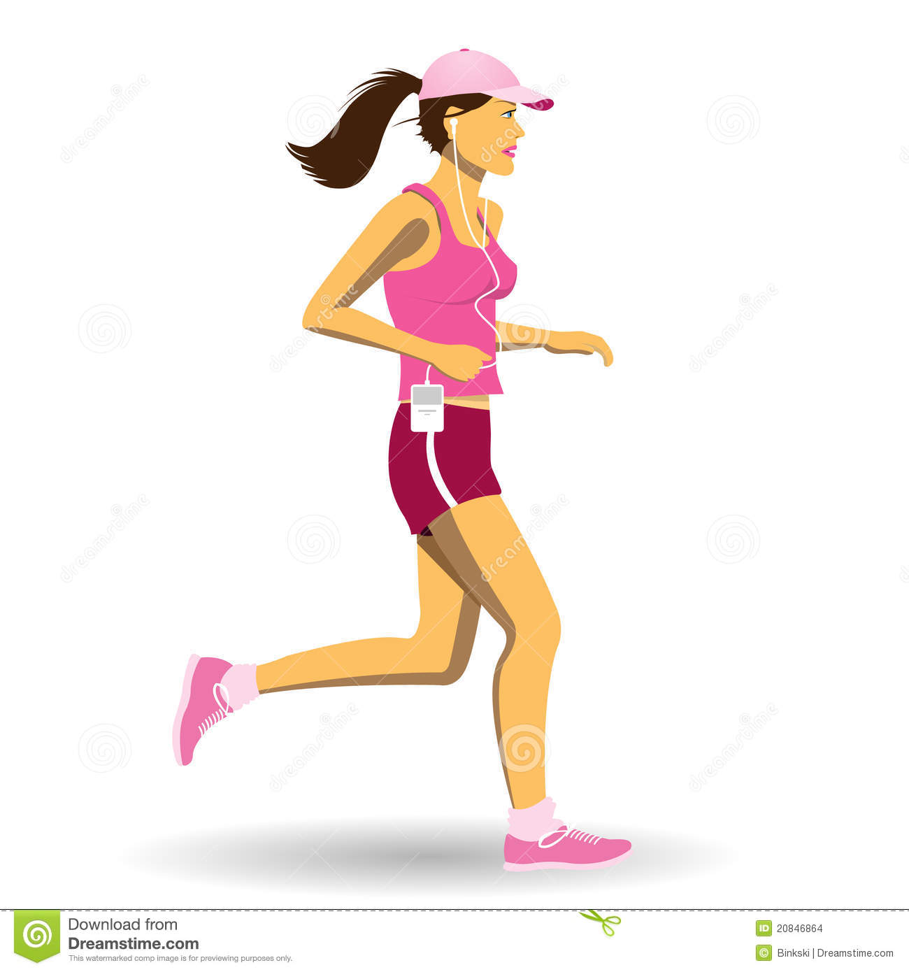 Woman Jogging Stock Images - Image: 20846864