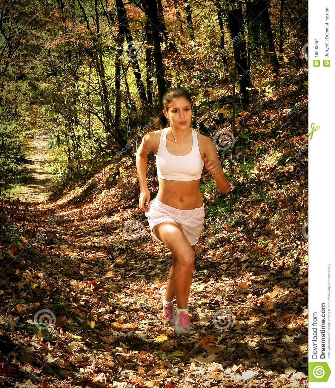 Woman In Jogging Attire Stock Images - Image: 16803964