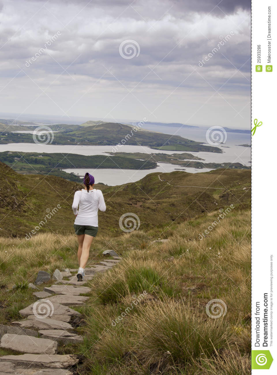 Running Woman Jogging Exercising Outdoor. Female Runner On ...