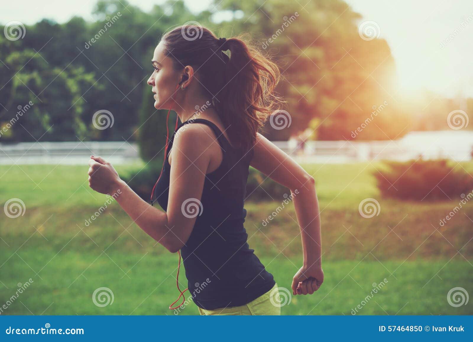 Woman jogging at park