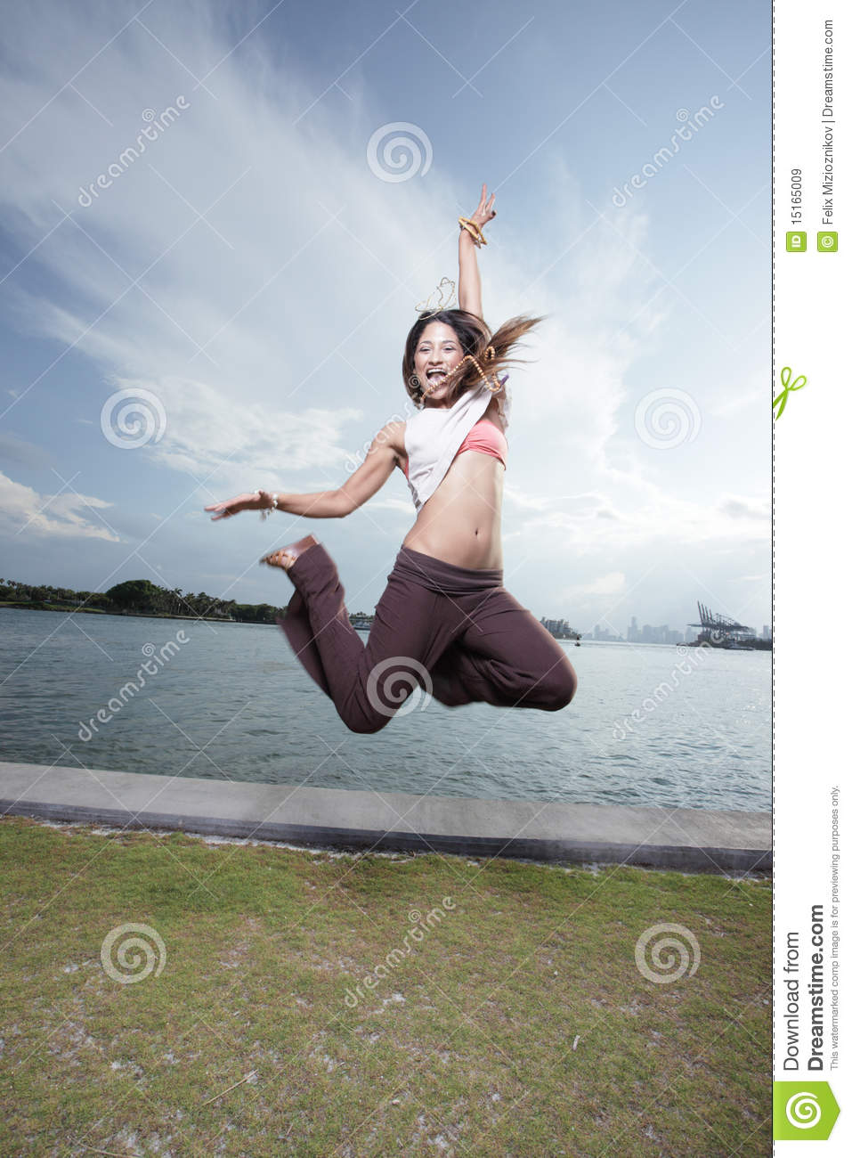 woman jumping for joy royalty free stock images image