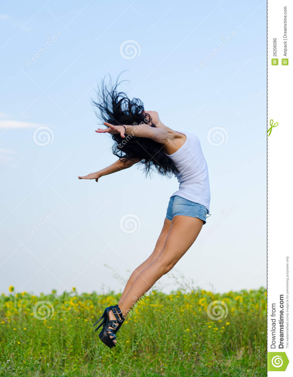 woman jumping for joy stock photo image 26206080