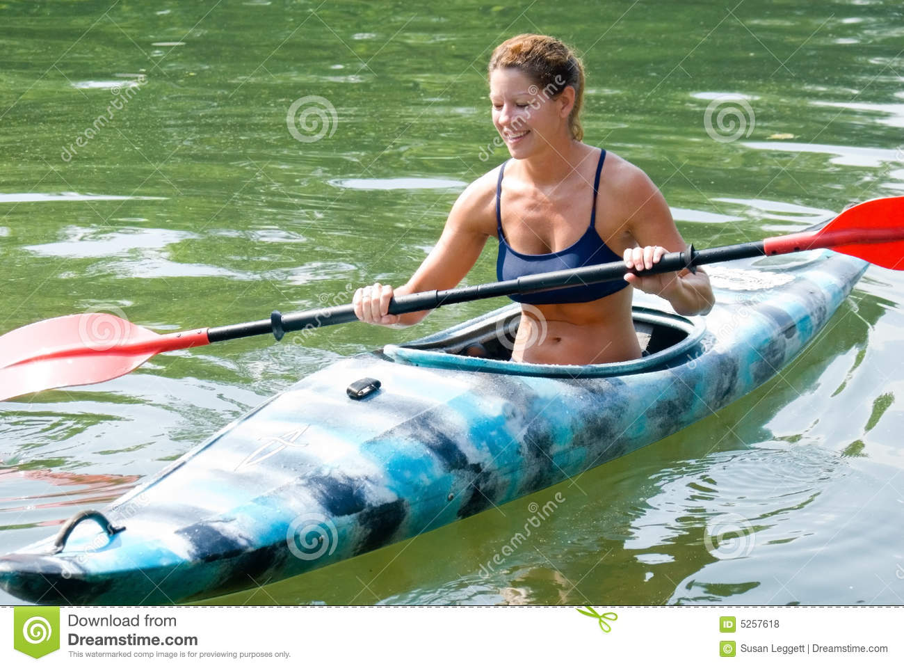 woman in kayak stock photo image of girl ripples person 5257618