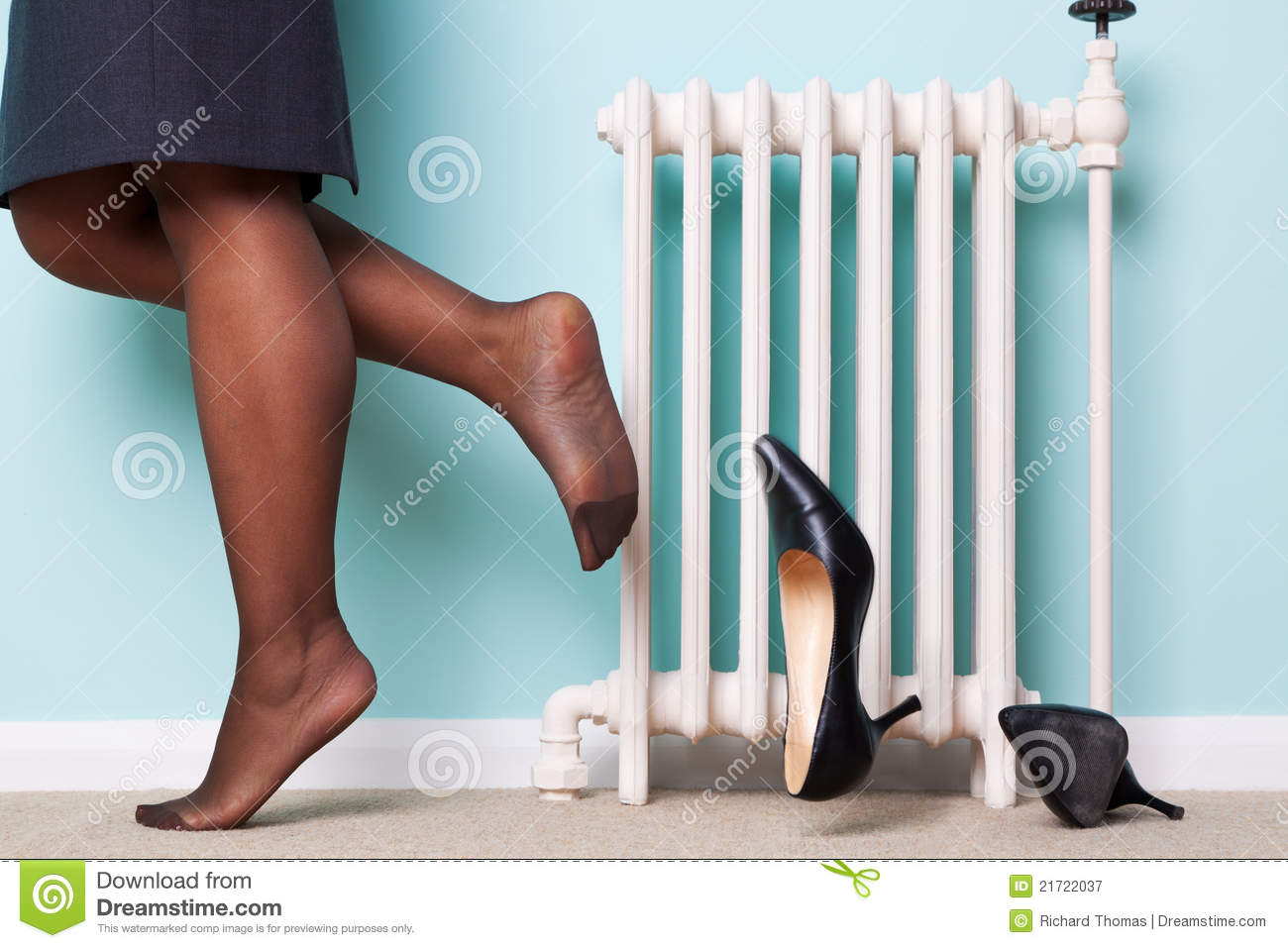 Woman Kicking Her Heels Off Royalty Free Stock Photography - Image ...