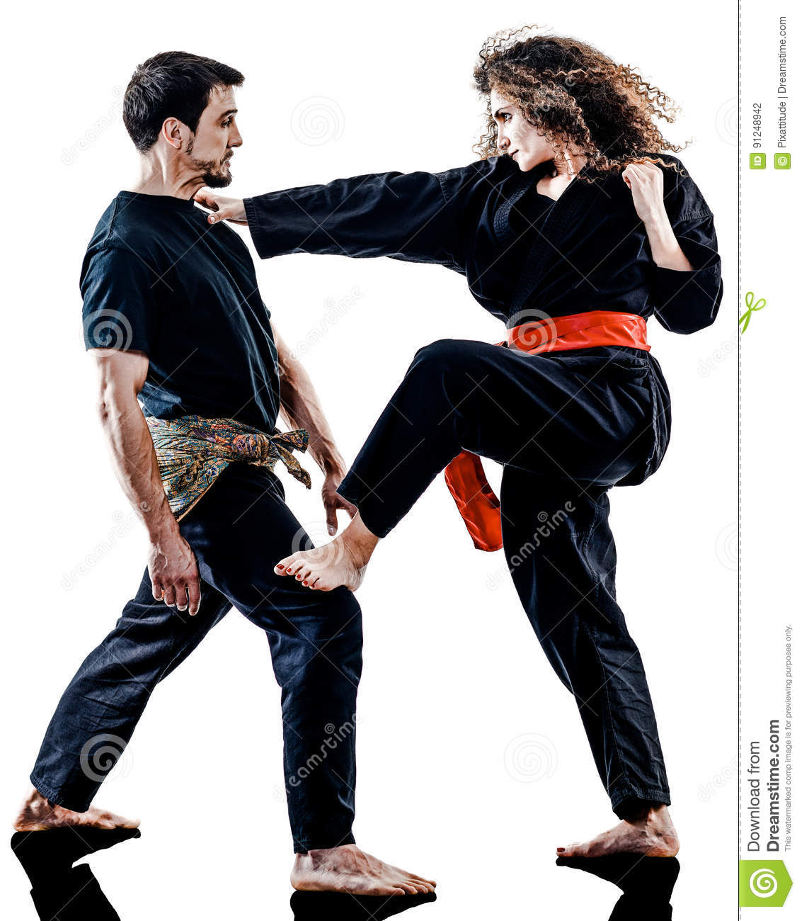 Woman Kung Fu Pencak Silat isolated