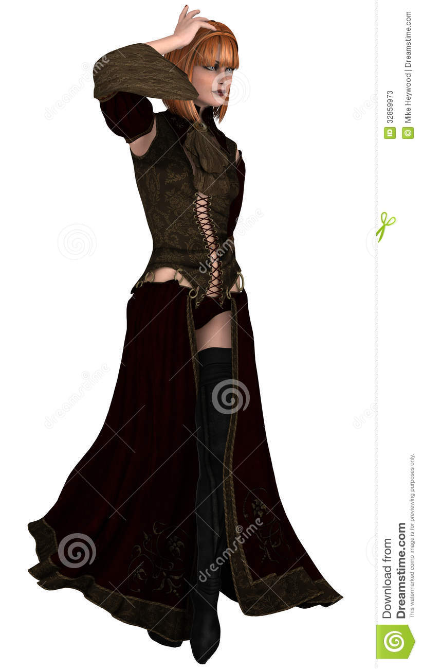Woman In Lace And Long Boots Stock Image Image 32859973