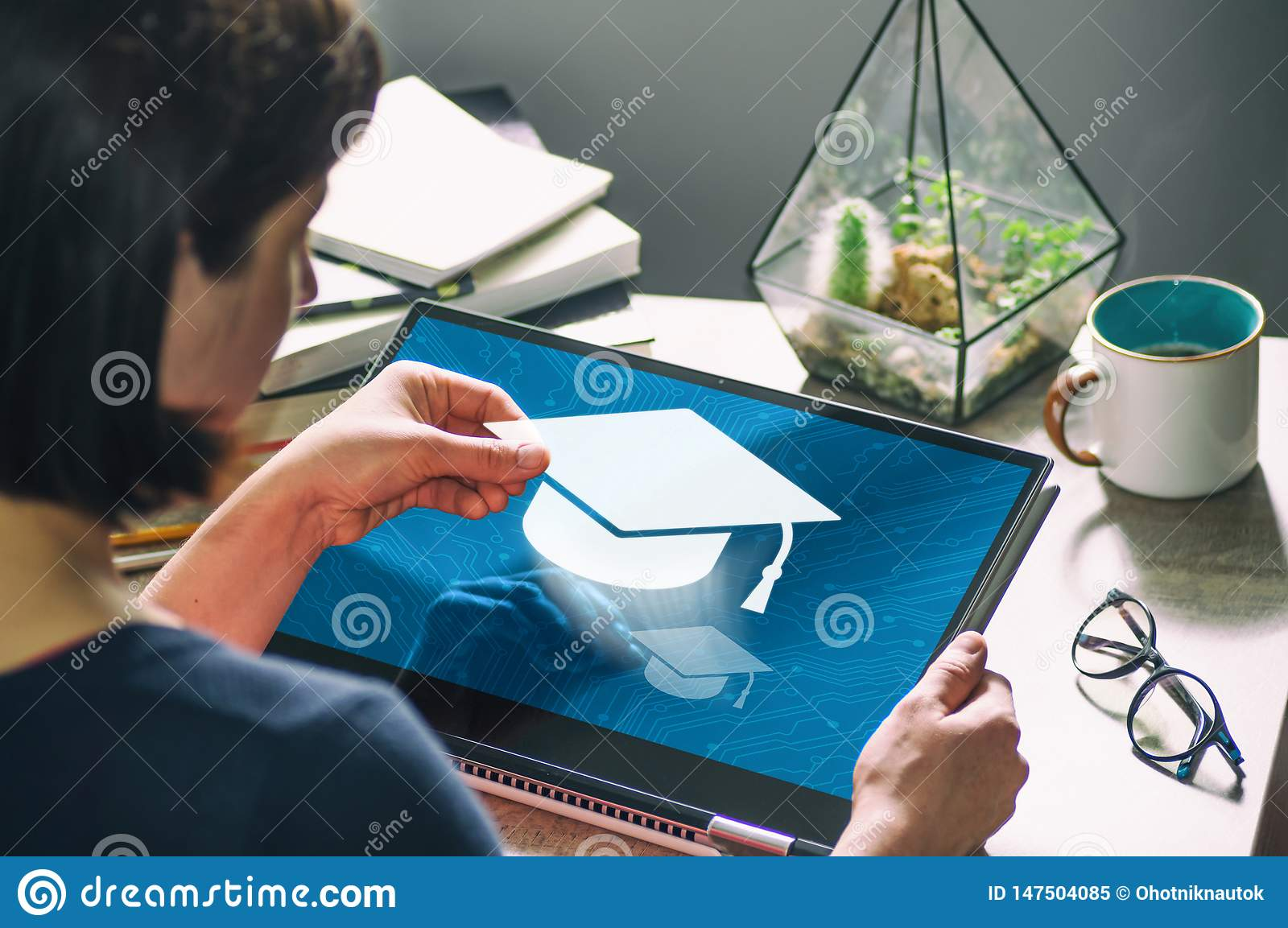 Concept of modern technology in education. Image