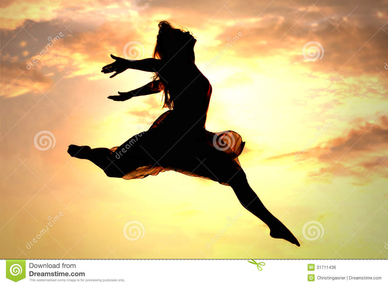 Woman Leaping - Shutterstock