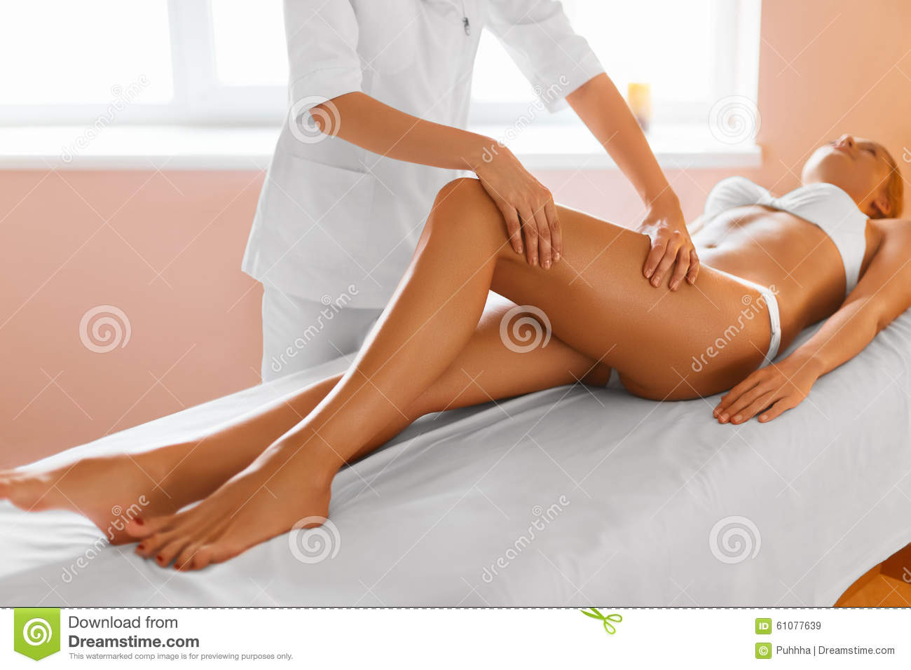 girl gets massage