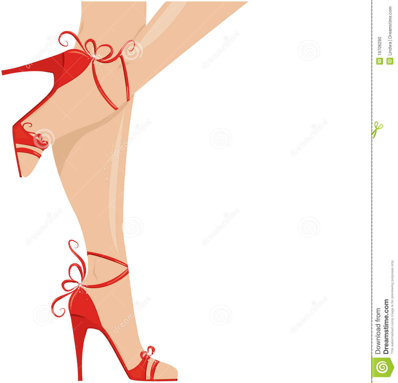 Silhouette Lady Legs Shoes