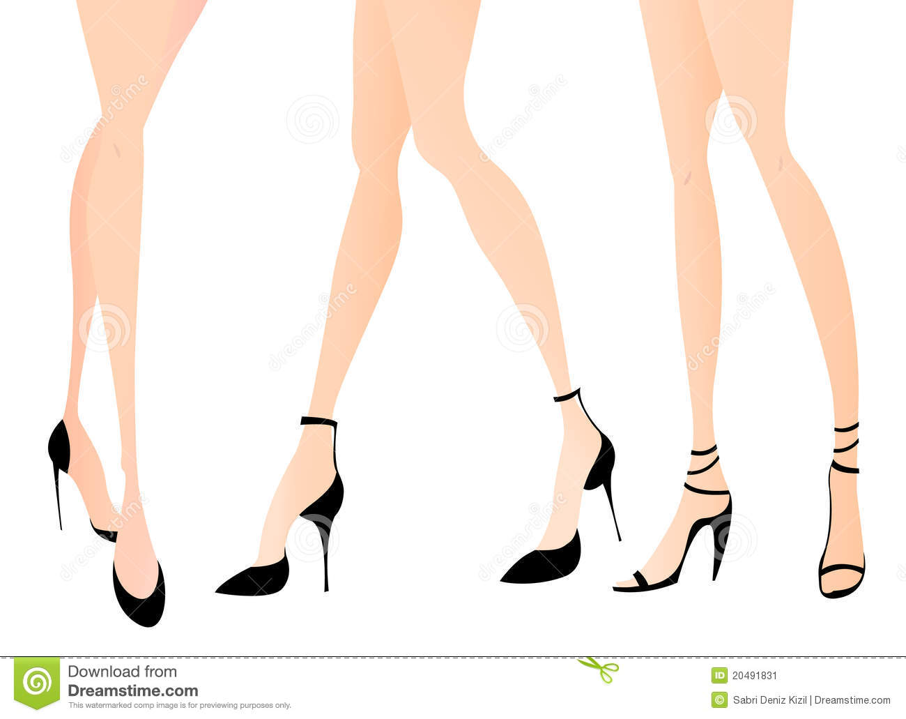 Woman Legs In Fashion Shoes Stock Image Image 20491831