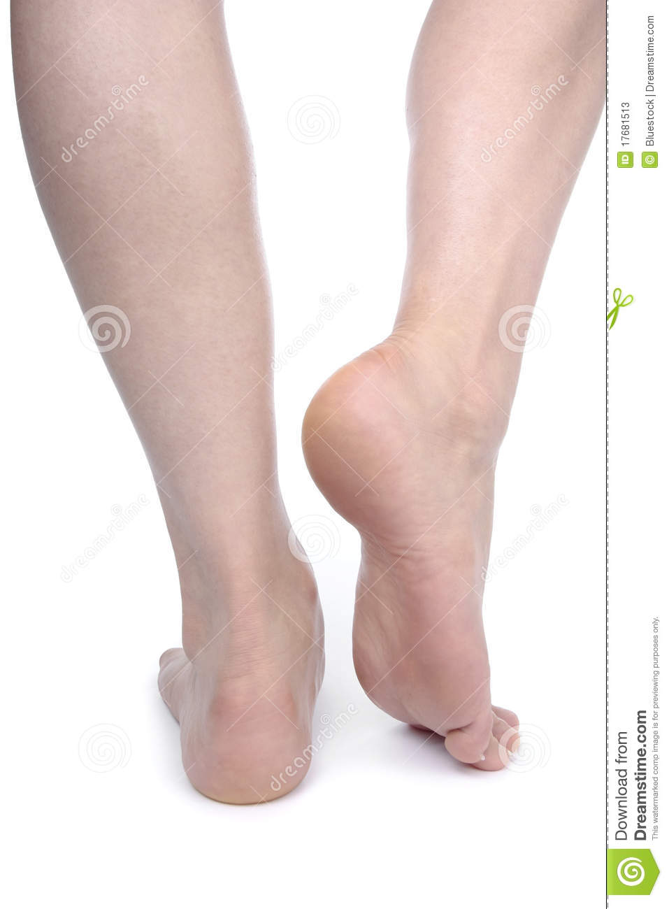 Woman Legs And Feet Isolated Over White Stock Photos - Image: 17681513