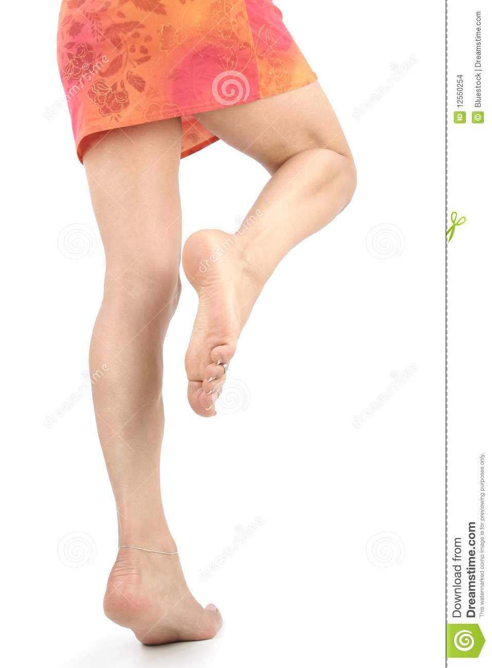 Woman Legs And Feet Over White Stock Photo Image Of Isolated