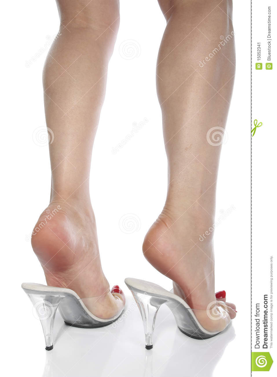legs and high heel shoes white stock image