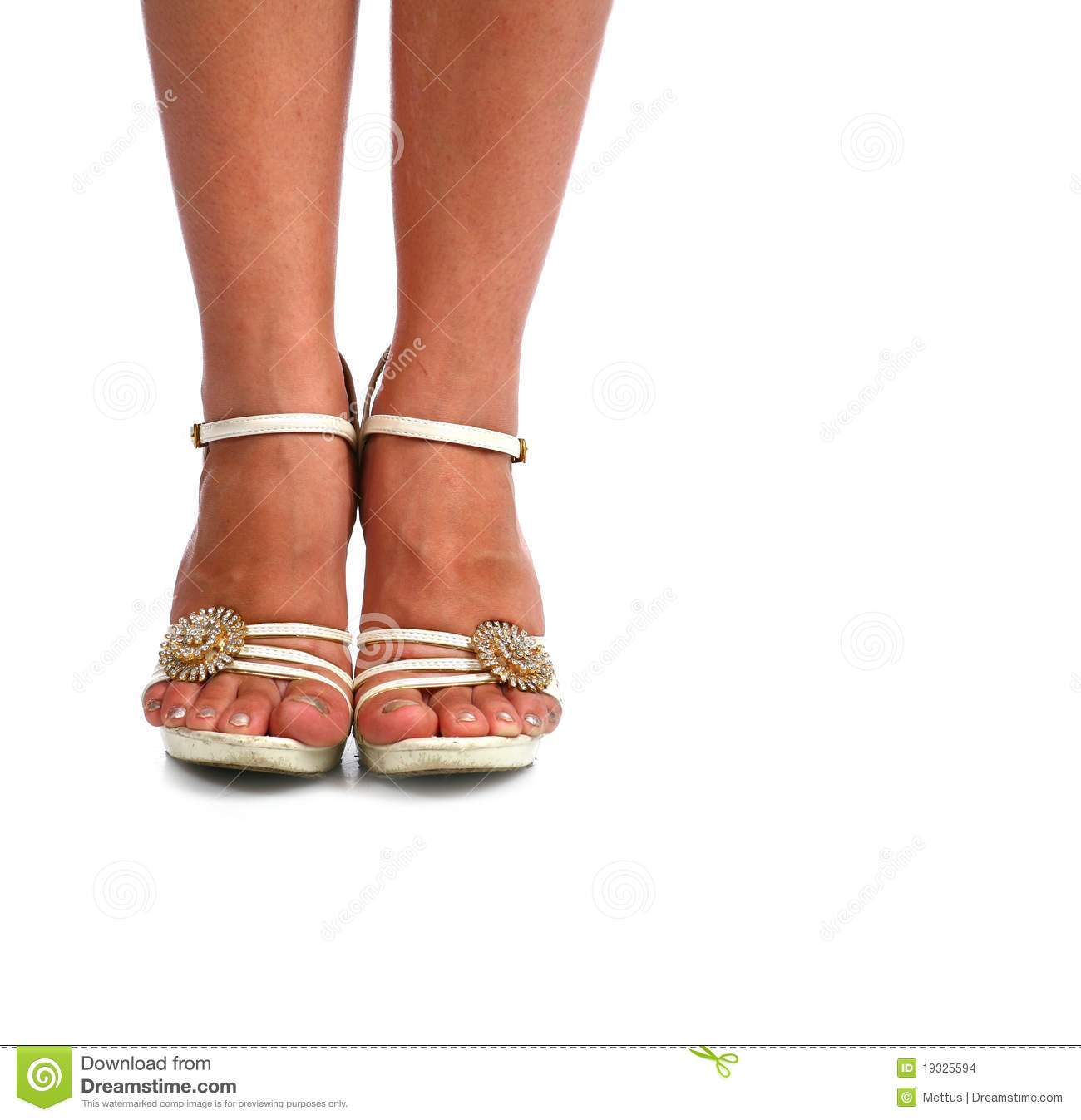 Images Of Legs With High Heel Shoes Over White Stock Image