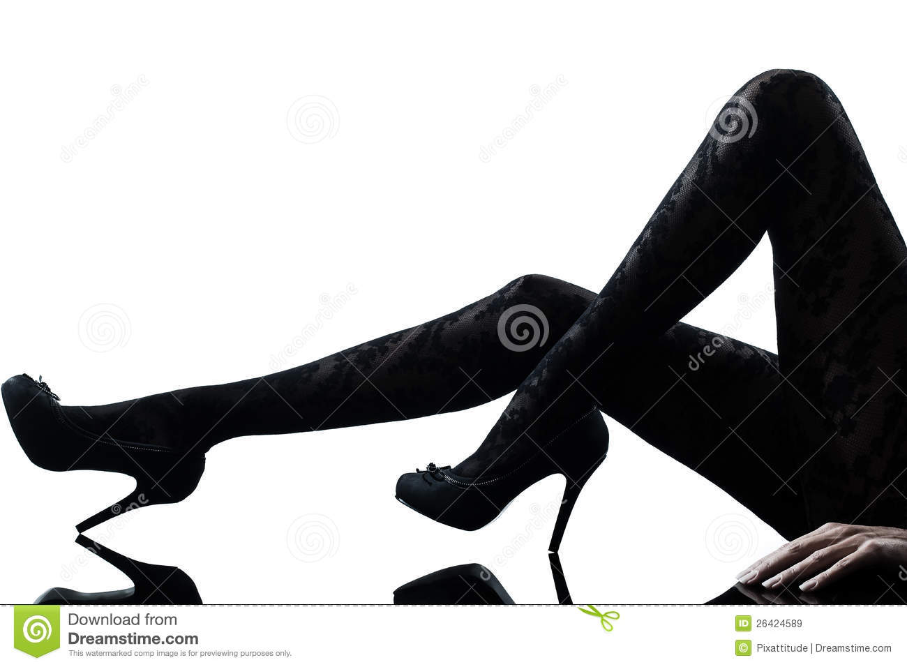Silhouette Woman Legs Royalty-Free Stock Image ...