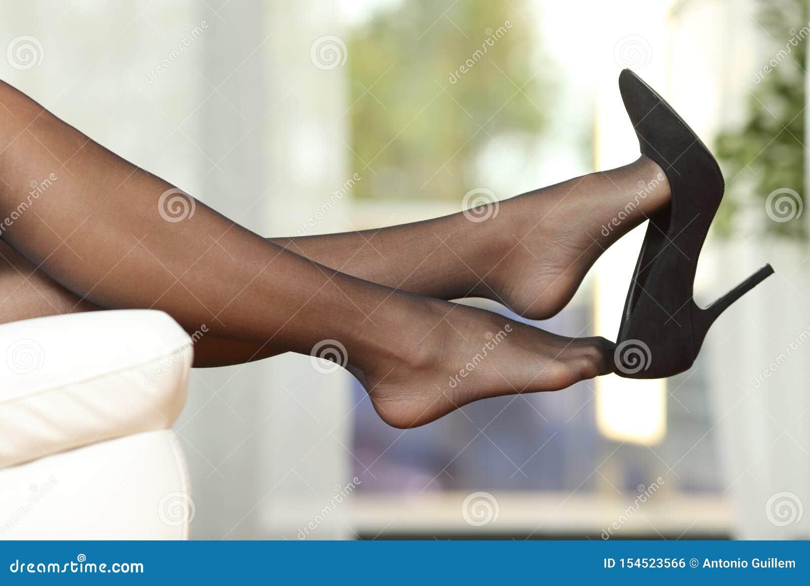 Taking Off Stockings Feet