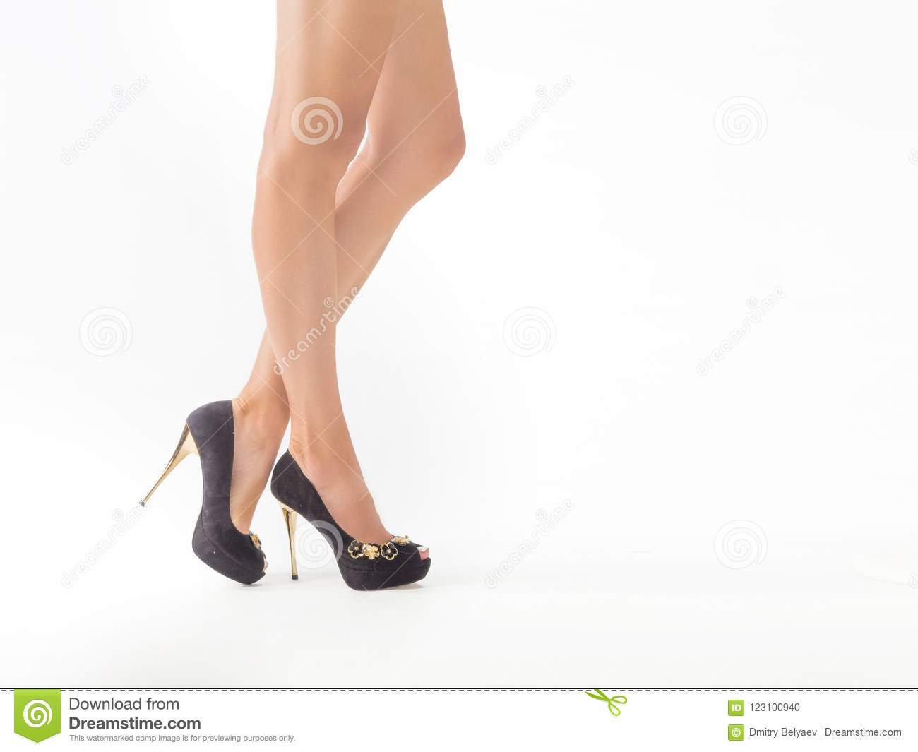 Pictures toned tan sexy legs heels