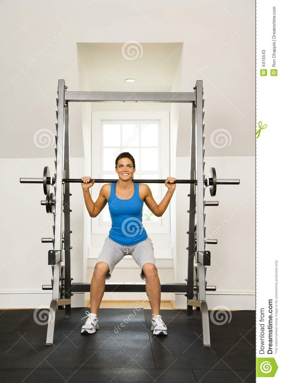 Woman Lifting Weights Stock Image Image Of Photograph