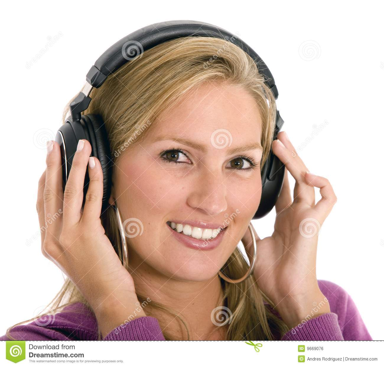 Woman Listening To Music Royalty Free Stock Image - Image: 9669076