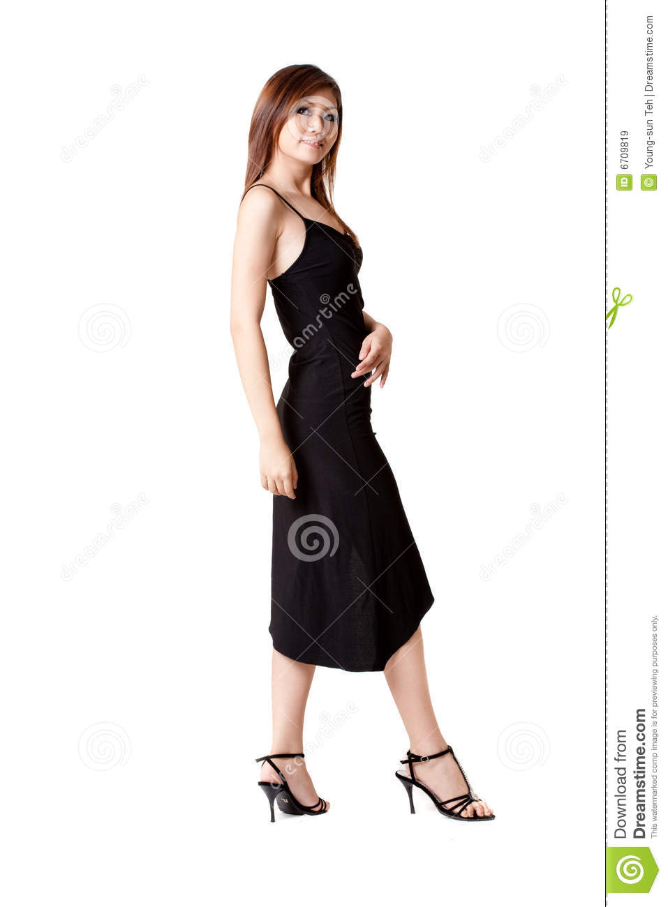 Woman in little black dress royalty free stock images image 6709819
