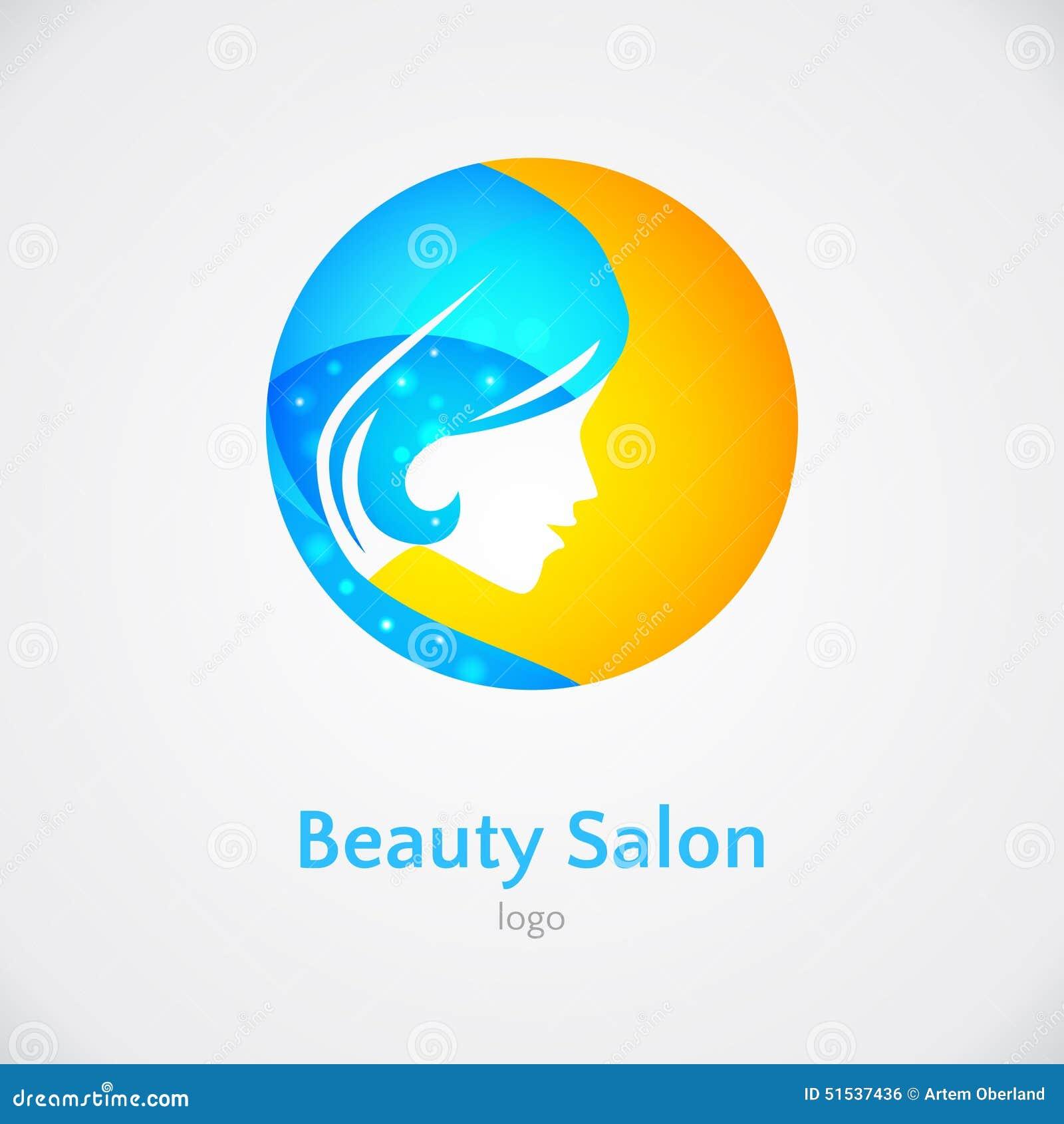 Woman Logo Design Template Stock Illustration