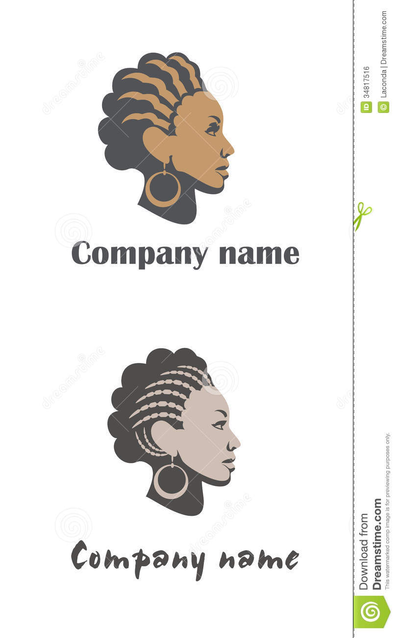 Woman Logo For Hair Or Beauty Salon Stock Vector