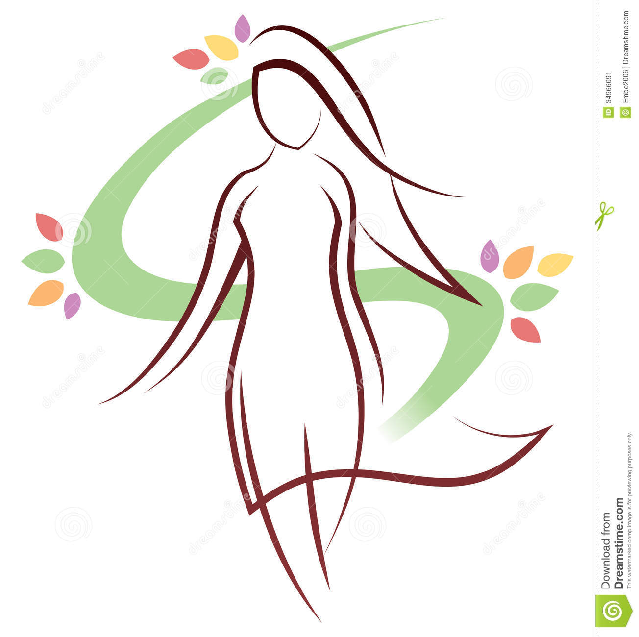 Woman Logo Stock Vector Illustration Of Modelling
