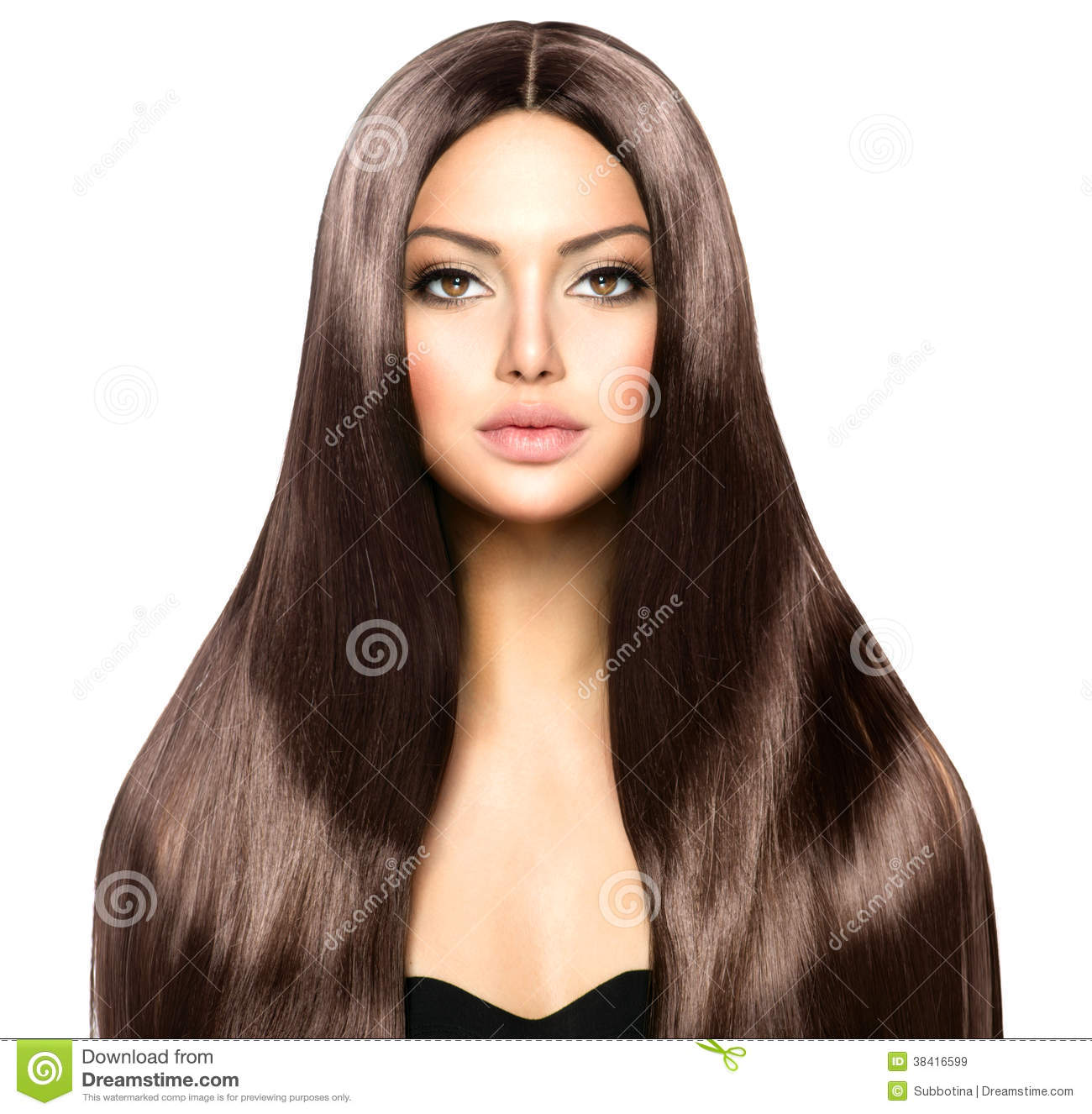 Woman With Long Brown Hair Royalty Free Stock Images