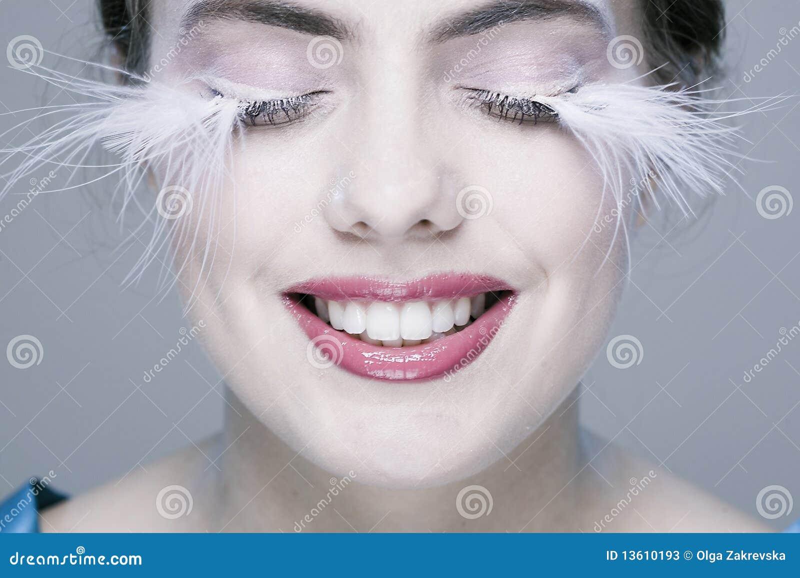 Woman With Long Eyelashes Stock Photos - Image: 13610193