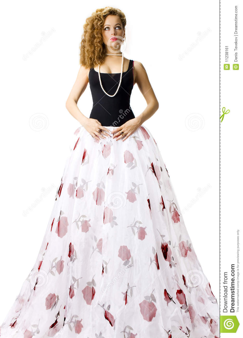 Woman In Long White Skirt Stock Image - Image: 11238161