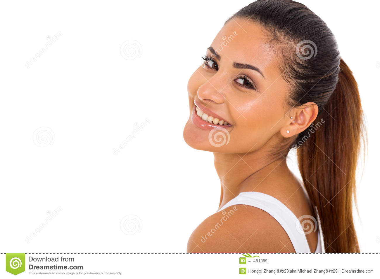 Woman Looking Back Stock Photo - Image: 41461869