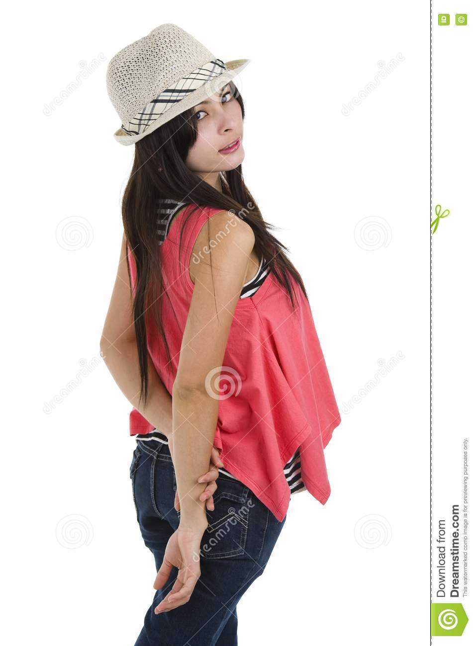 Woman Looking Back Over Her Shoulder Stock Photography ...