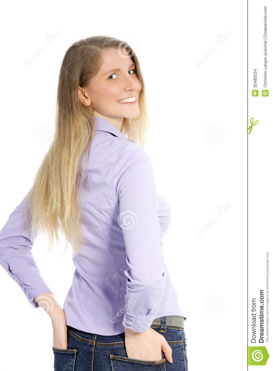 Woman Looking Back Over Her Shoulder Stock Images - Image ...
