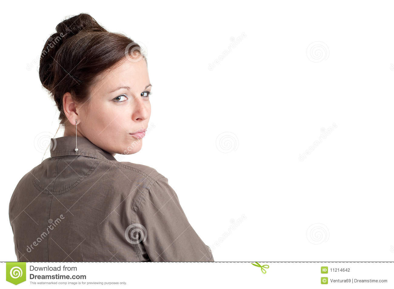 Woman Looking Over Her Shoulder Stock Photography - Image ...