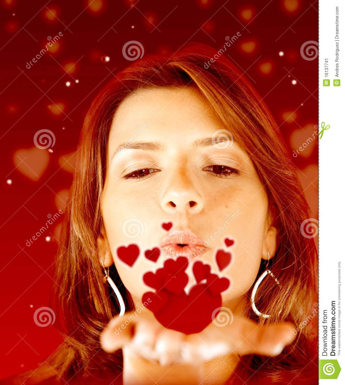 Woman in love stock image. Image of affection, beautiful ...