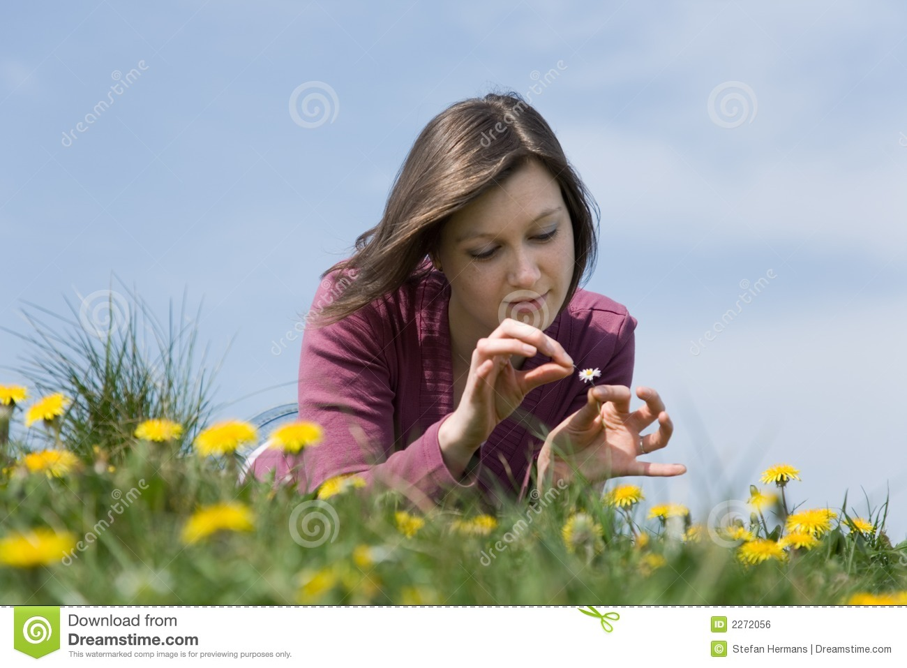 Woman in love stock photo. Image of long, field, cute ...