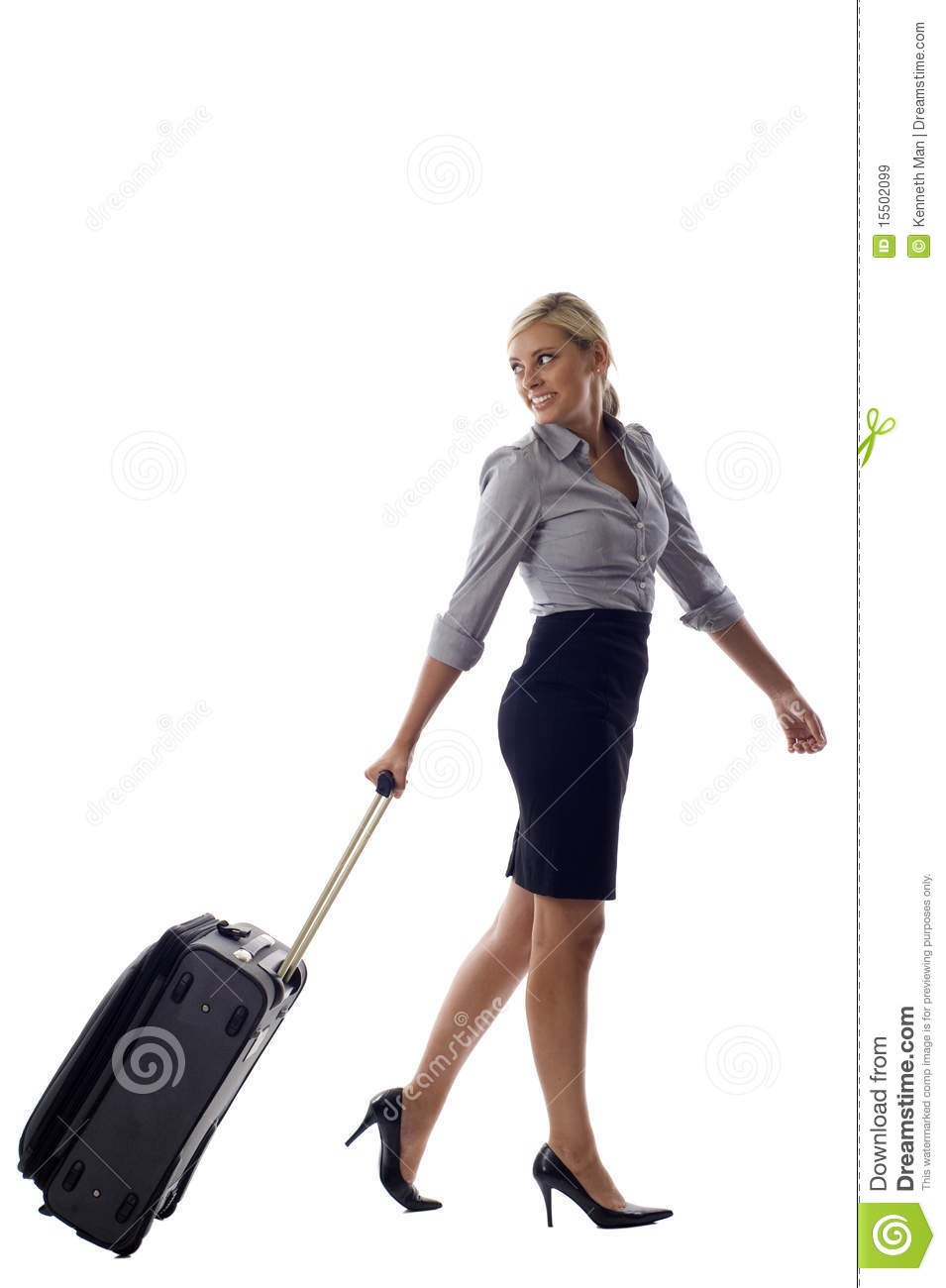 Woman With Luggage Royalty Free Stock Images - Image: 15502099
