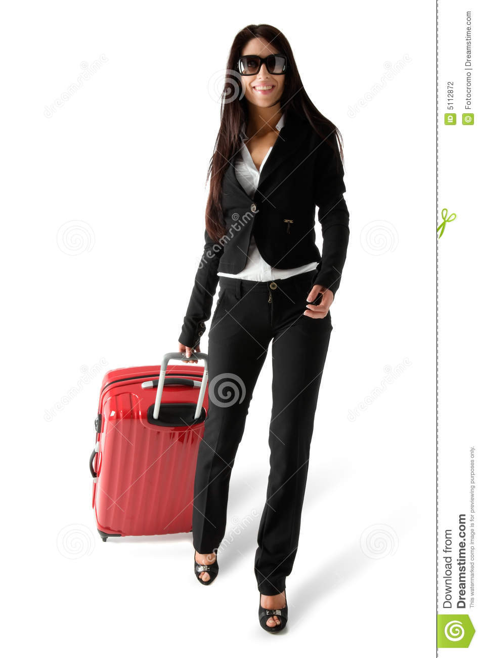 Woman With Luggage Stock Photography - Image: 5112872