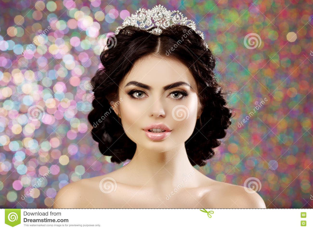Queen Hairstyles: Woman, Lux Crown, Queen Princess Lights Party Background
