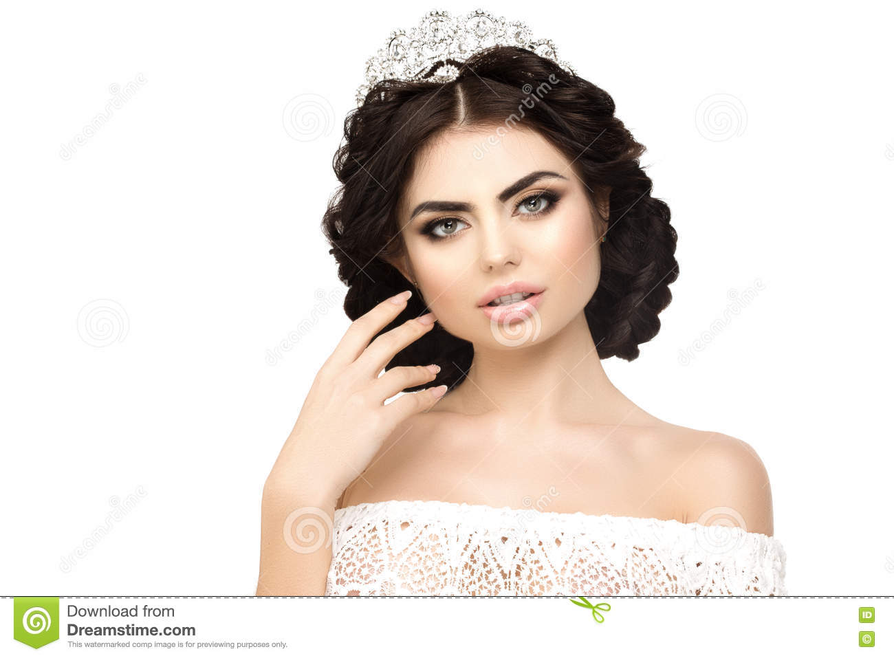 Woman Lux Crown Queen Princess White Background Luxury Girl Sh