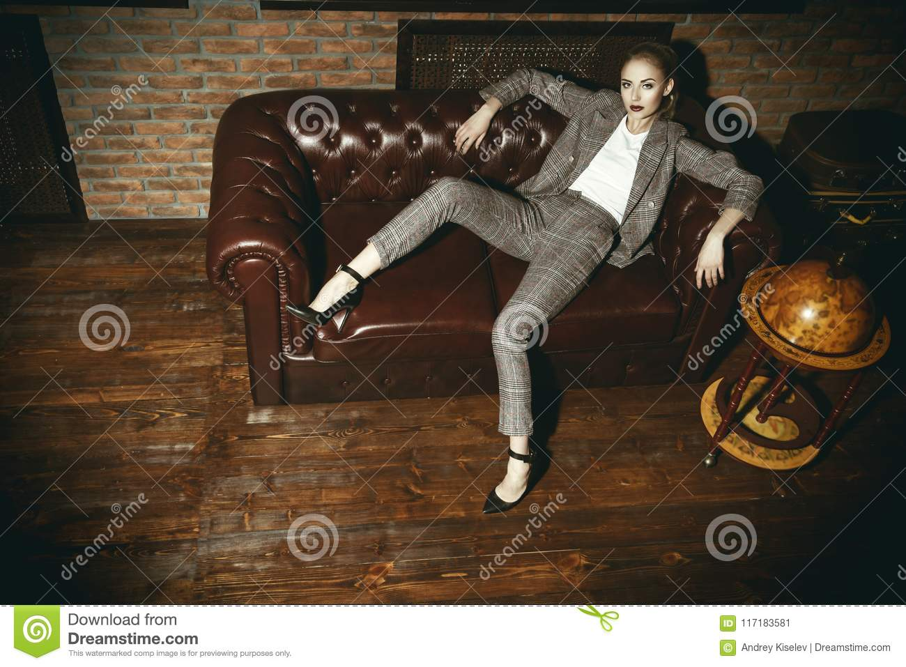Woman in luxurious apartment